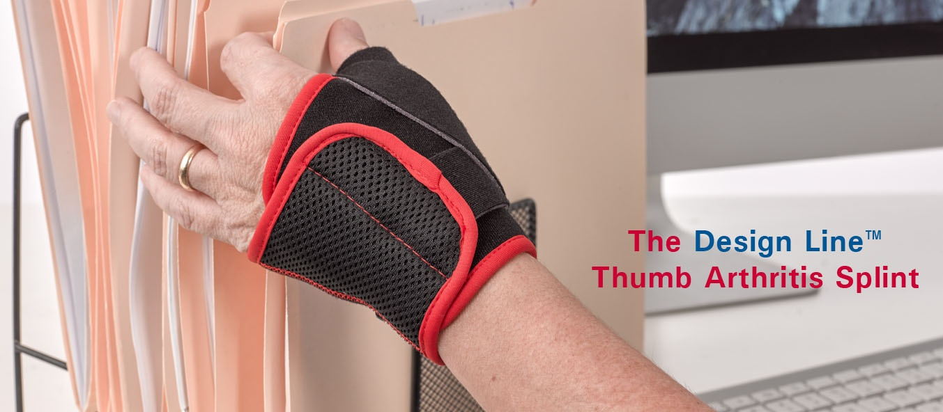 The NEW Design Line Thumb Arthritis Splint from 3-Point Products. Now you can treat thumb arthritis effectively and fashionably!