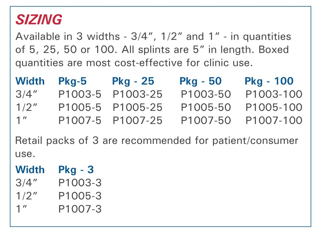 Sizing Chart for 3pp Buddy Loops