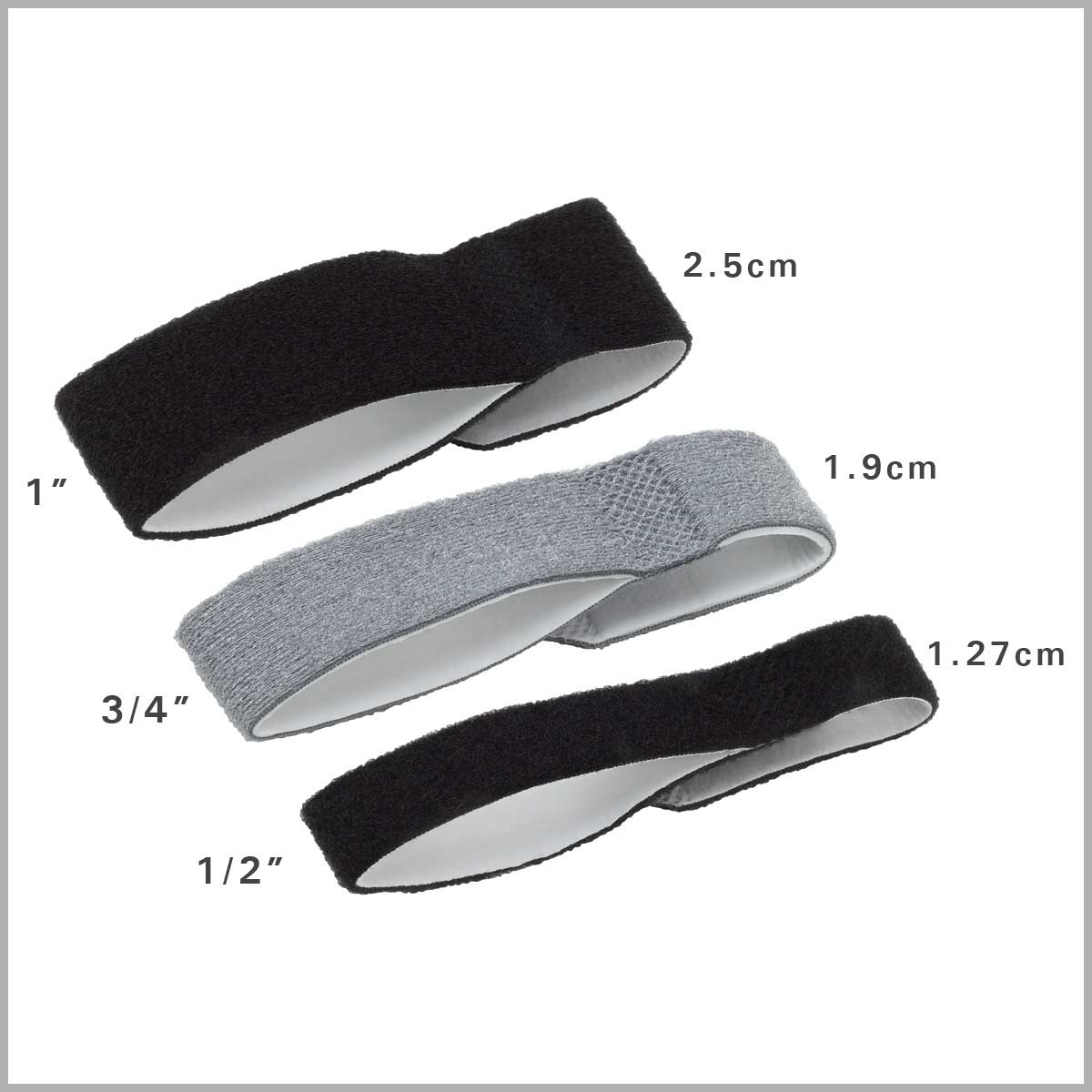 3pp Buddy Loops are available in 3 sizes: 1/2-inch, 3/4-inch & 1-inch