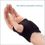 The pad cushions and supports the wrist