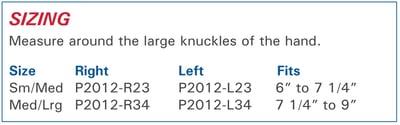 3pp Carpal Lift size information