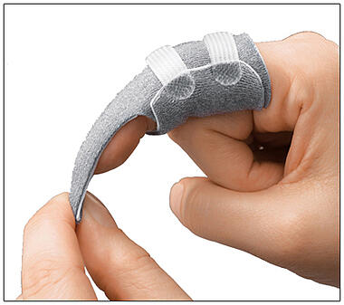 3pp Finger Trapper provides a secure hold for application of traction for splinting