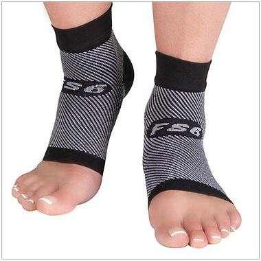 FS6 Foot Compression Sleeve relieves pain casued by plantar fasciitis, Achilles tendonitis and heel spurs