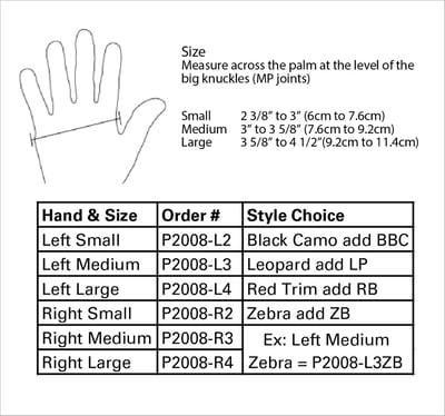 3pp Design Line Thumb Splint size information