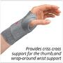 The 3pp ThumSling Long criss crosses the basal joint of the thumb