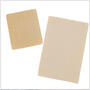 "Gel Mate silicone gel sheeting comes in two sizes: 2.5"" x 5"" and 4"" x 6"""