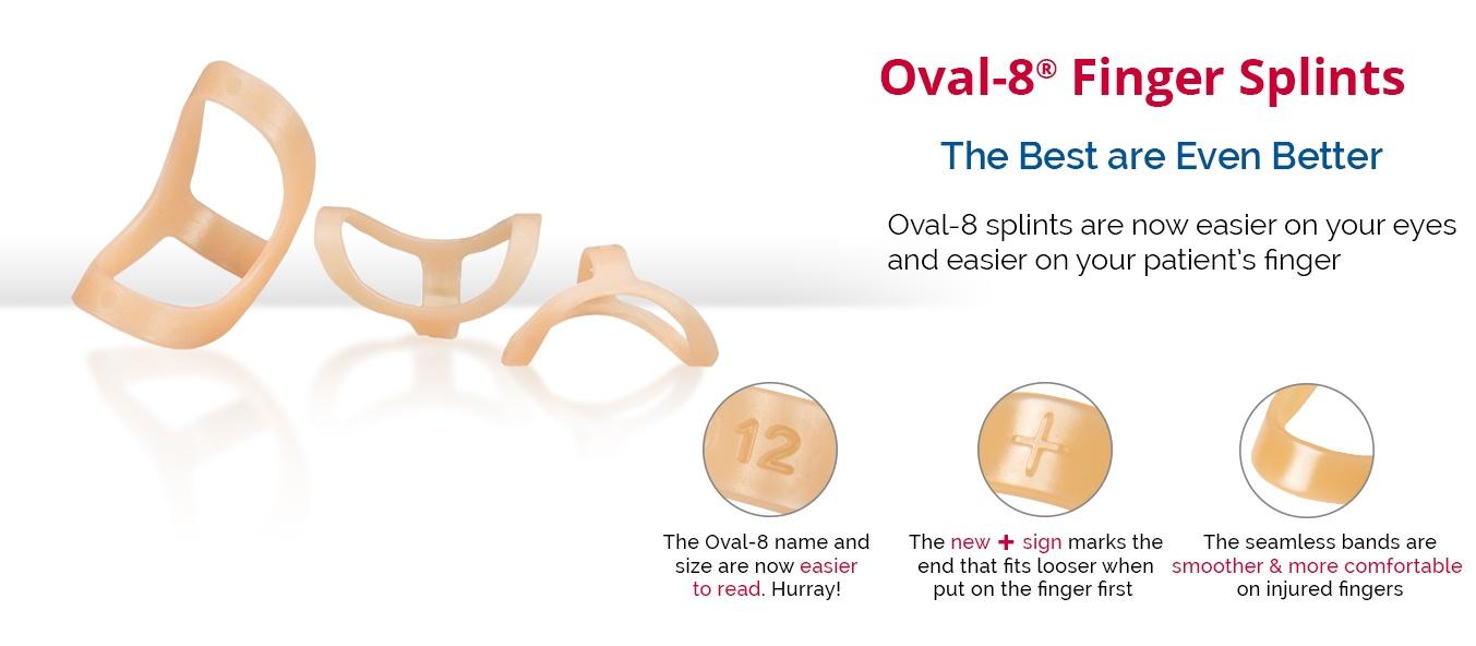 Oval- 8 Finger Splints