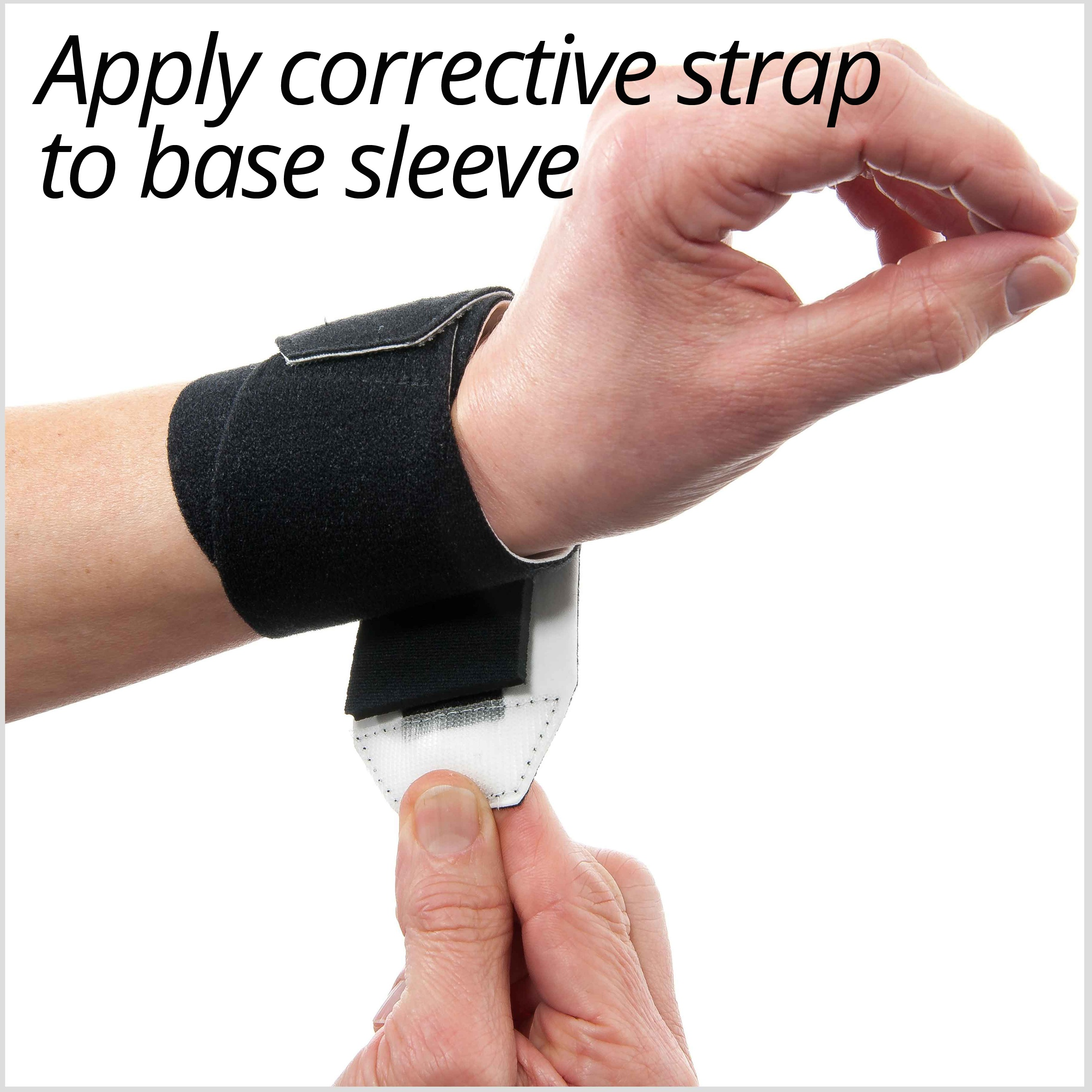 3pp Wrist P.O.P. apply corrective strap to the base sleeve