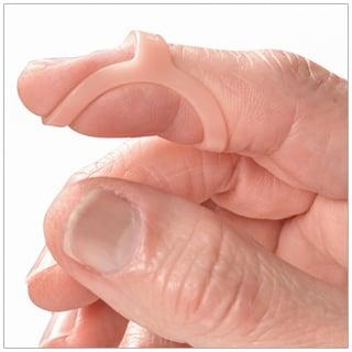 Oval-8 Finger Splint, shown to treat mallet finger