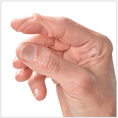 Oval-8 Finger Splint - shown for mallet finger
