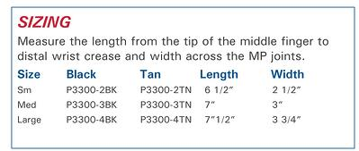 Protexgloves Grip size information