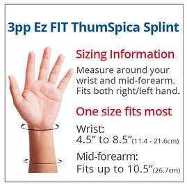 sizing chart - ez fit thumSpica