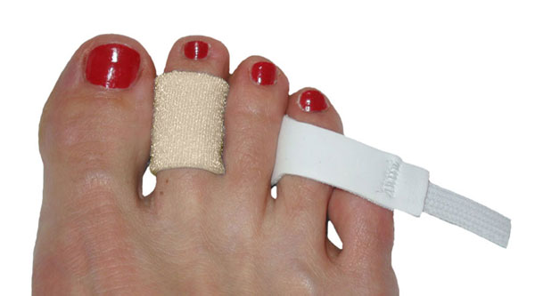 Slip the toe loop over the toe you are trying to treat
