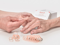 Use an Oval-8 Sizing Set to correctly size your patient's for an Oval-8 Finger Splint